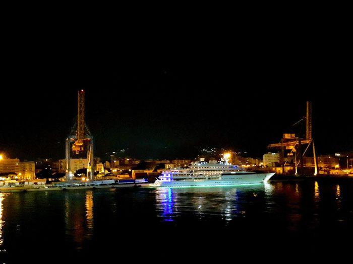 City Cityscape Water Illuminated Urban Skyline Clock Nautical Vessel Clock Face Nightlife Reflection