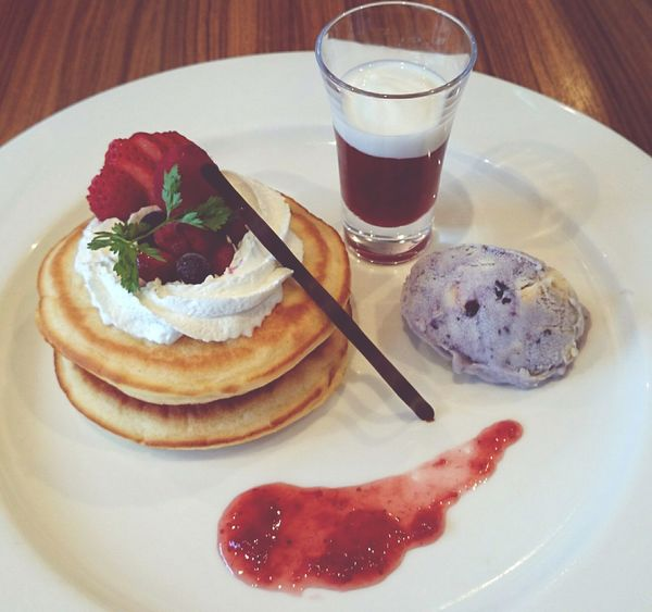 Happy Time In My Mouf Sweets Pancakes Relaxing Time Yummy♡ Strawberries Berries