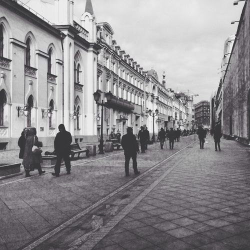 Moscow Architecture Street Black & White