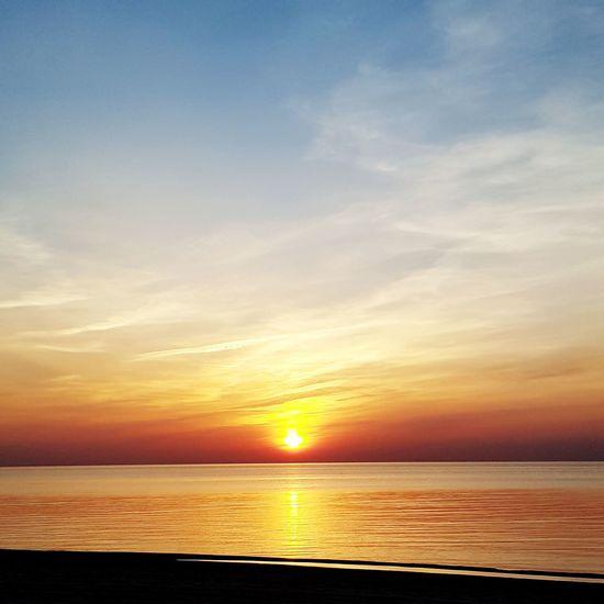 Sanset The San Rampage  Water Sea Sunset Horizon Beach Blue Beauty Summer Sunlight