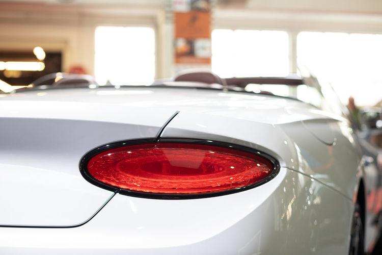 Close-up of red illuminated car
