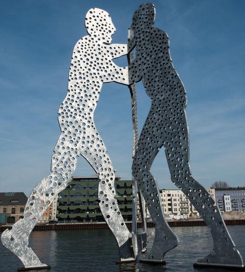 Berlin Berlin Photography Blue Sky Molecule Man Molecule Men Moleculeman MoleculeMen No People Sight Spree Spree River Water