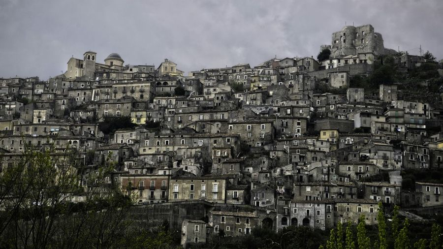 Old town glued to hillside