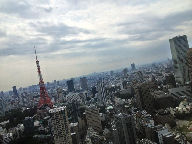 Today's Hot Look of Tokyotower 🗼 How's The Weather Today Sept29/2015 ?⛅️ Urban Landscape Cityscapes Clouds And Sky Buildings & Sky in Tokyo , Japan 港区虎ノ門 Pmg_tok