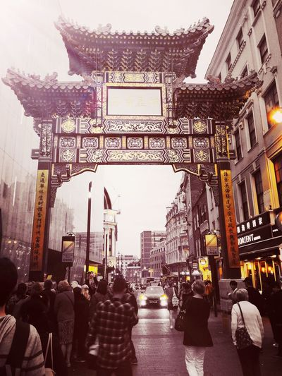 Chinatown Architecture Travel Destinations People City Building Exterior Built Structure Outdoors Adult Crowd Adults Only Cityscape Day Sky London Chinatown