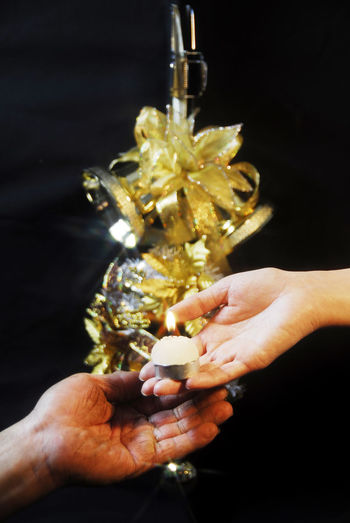 Christmas Adult Black Background Celebration Christmas Tree Christmastime Close-up Day Flower Gold Colored Holding Human Body Part Human Hand Outdoors People Give Love Give Up Givenchy Love Life Pass Love Love ♥ Transfer Love Transfer Transfer Print