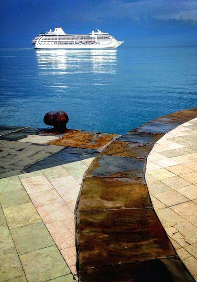 Faces Of Summer Sea And Sky Port Of Koper Seascape
