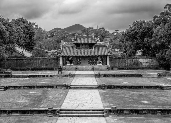 Steps, Minh Mang Tomb, Huế, Vietnam Steps Black And White Monochrome Architecture Huế Vietnam