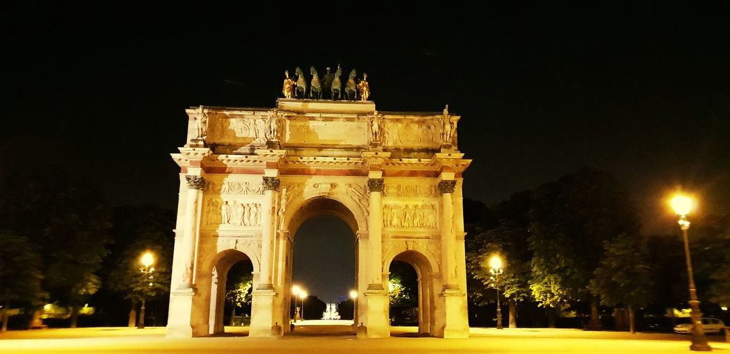 City Illuminated Triumphal Arch History Arch Architecture Sky Built Structure