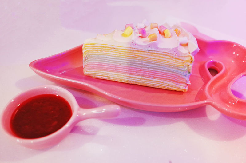 Sweet Food Indoors  Food And Drink Pink Color Dessert Sweet Close-up Still Life Indulgence Cake No People Baked Food Studio Shot Temptation Cup Ready-to-eat Freshness Plate Table Crockery