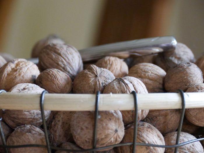 Close-up of walnuts