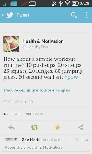 Follow Me On Twitter ❤ Fitness Workout Workout Routine