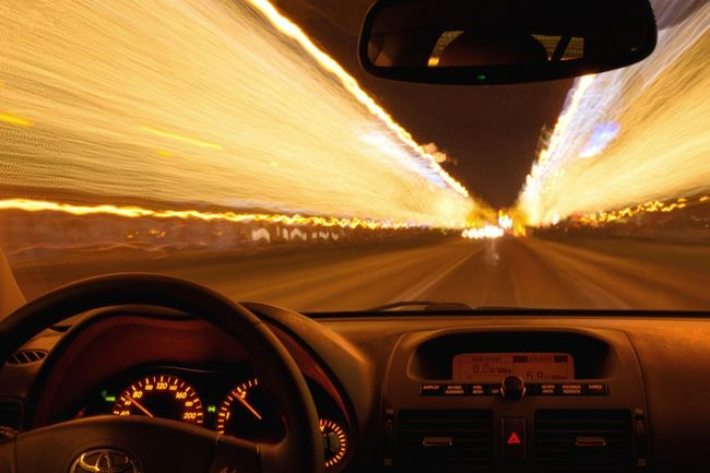 Car Vehicle Interior Driving Dashboard Car Interior Windshield Speed Road Motion No People City Lights Traffic Long Exposure Budapest Travel Street Mirror Toyota Avensis T25 Christmas Christmas Lights Gold Colored