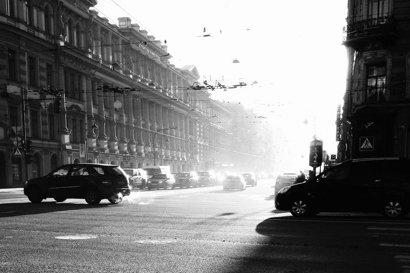 Spb Streetphotography Street Blackandwhite Light Light And Shadow Sunrise First Eyeem Photo