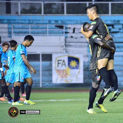 Goal celebration @mrporteria @younousseyaogo 🎆⚽ . . . KayaFCvsTeamSocceroo Sbspotlight Soccerbible Unakaya kayafc UFL unitedfootballleague themanansala football