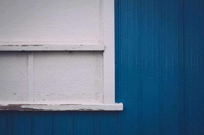 Close-up of blue door