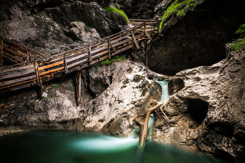 Dragon ravine Austria EyeEmNewHere Gorge Nature Stairs Beauty In Nature Bridge - Man Made Structure Cliff Day Dramatic Footbridge Motion Mountain Nature No People Outdoors River Rock - Object Scenics Water Water In Motion Waterfall Wide Angle Wild Wilderness