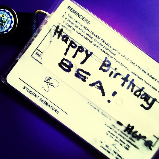 Birthday Greeting on a band aid