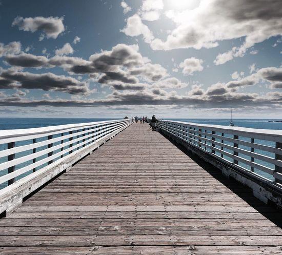 Clouds And Sky Ocean Boardwalk