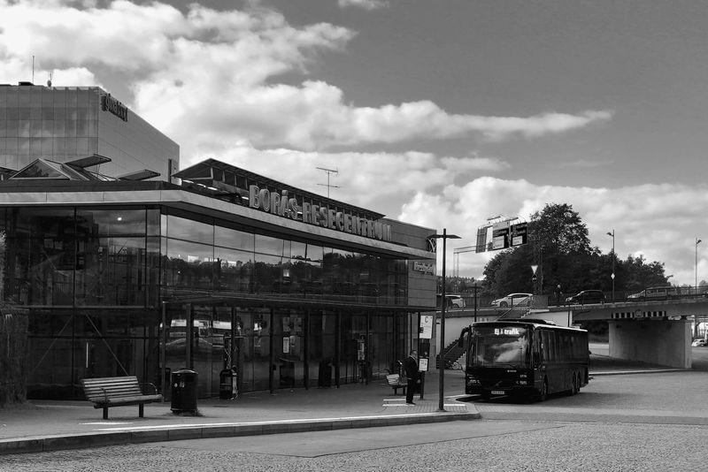 Borås Central Station Bus Bus Station Bus Station Building Exterior Architecture Architecture_bw