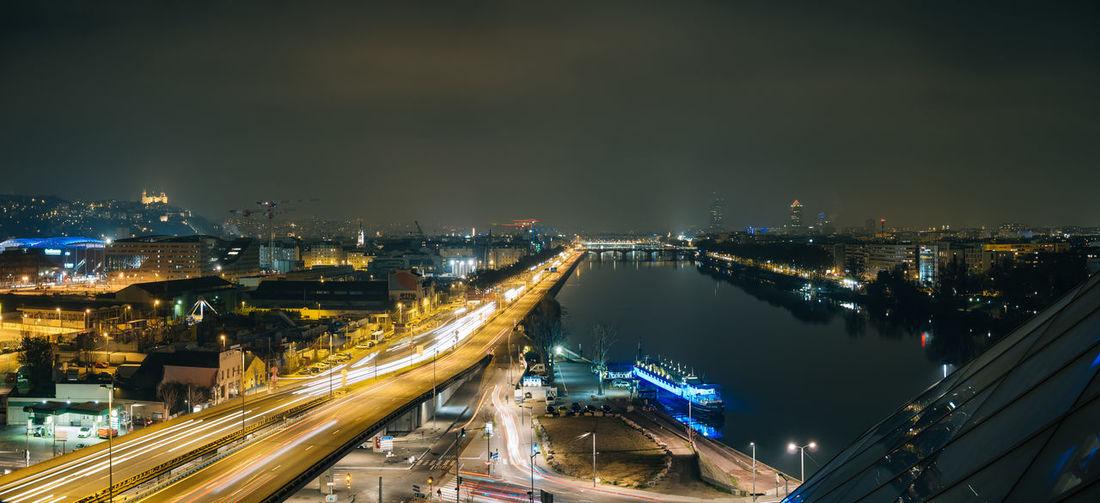 Lyon at night,