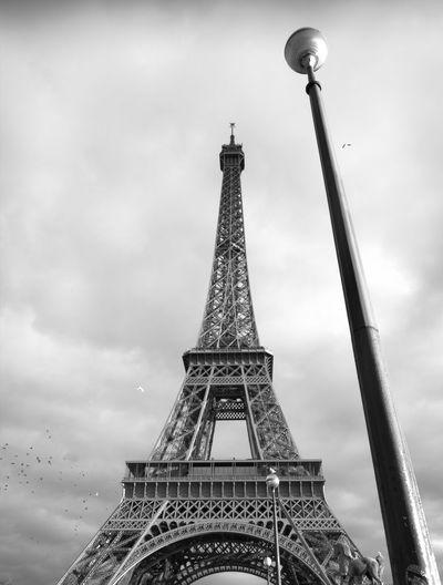Eiffel Tower City History Monument Cultures Tower Metal Sky Architecture Built Structure Building Exterior