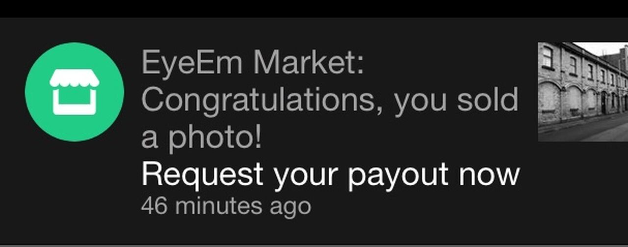 First Sale Sold On EyeEm Market Sold On Getty Images First Of Many  Happy Chuffed Sold My First Photo😀