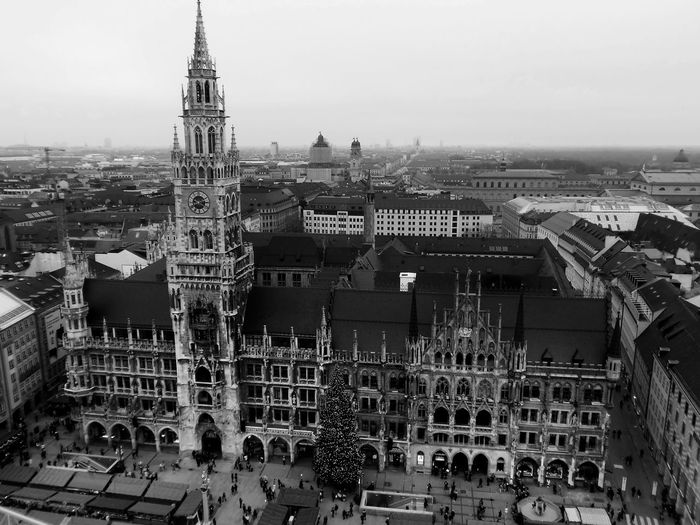 Architecture Black And White Collection  Blackandwhite Blackandwhite Photography Cityscape From My Point Of View Marienplatz Monochrome Monochrome Photography München Outdoors