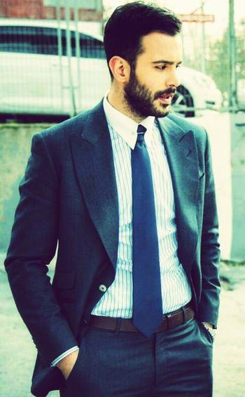 Only Men Businessman Well-dressed Outdoors Suit Standing Türkiye KiralıkAsk ömer Fashion Istanbul