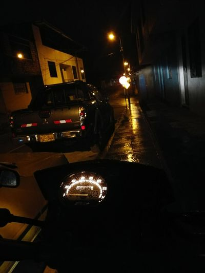 Motocross Motorcycle Night Illuminated Street No People Beautifulmotor Ttr125 Yamaha Free