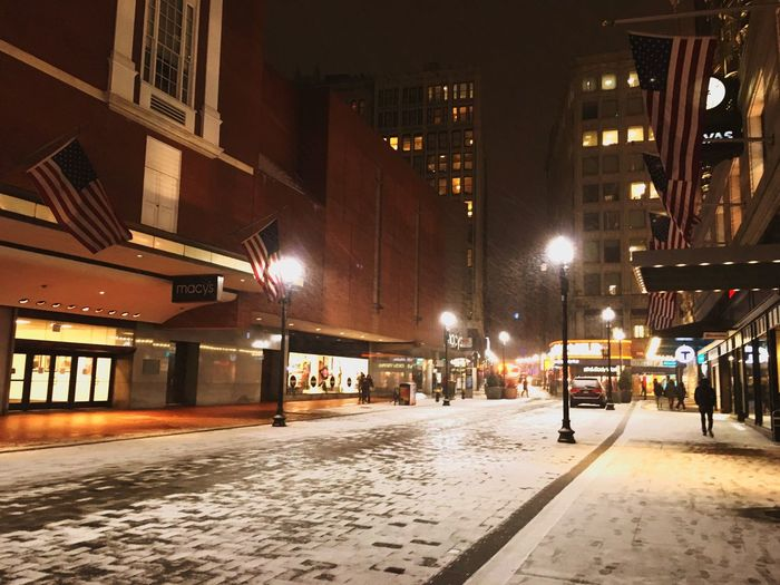 Winter Snow Downtown Boston ParkStreet Massachusetts Coupleweeksago USA Beautiful View Of America