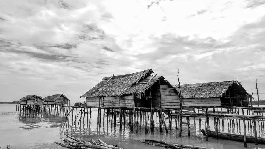 Traditional fishing village in indonesia