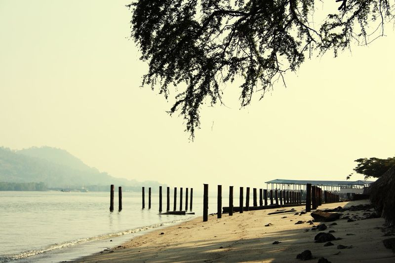 Water Ocean Tranquility Calm Rhythm Lines in Lumut Malaysia South East Asia
