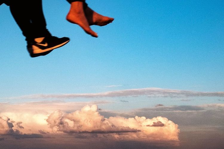 Rethink Things Feet Human Foot Motion Real People Cloud - Sky Sky Sunset Day