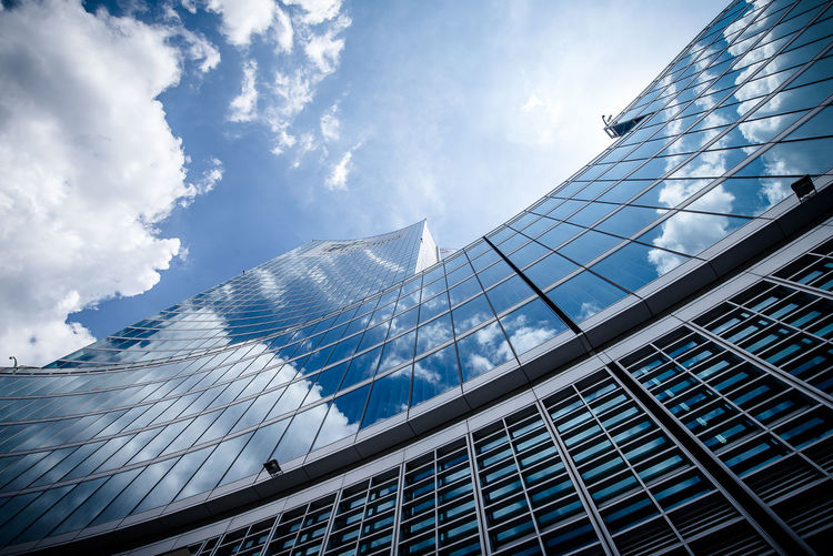 14 24 Nikon Architecture Blue Clouds And Sky Reflection Skyscaper Skyscraper The Architect - 2016 EyeEm Awards Wide Angle