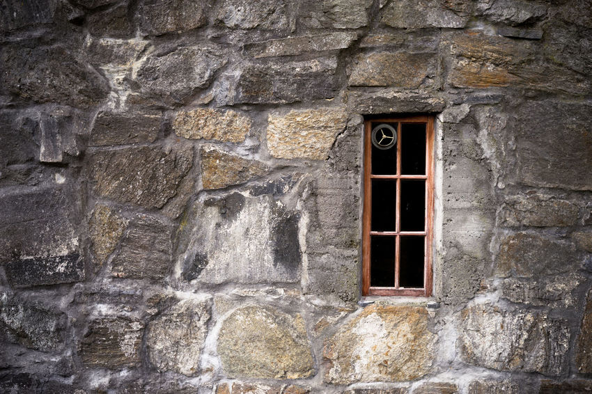 window Norway Old Stone Wall Wall Stone Wall Stone Wall Background Very Old Wall Wall - Building Feature Window Window On Stone Wall Windows