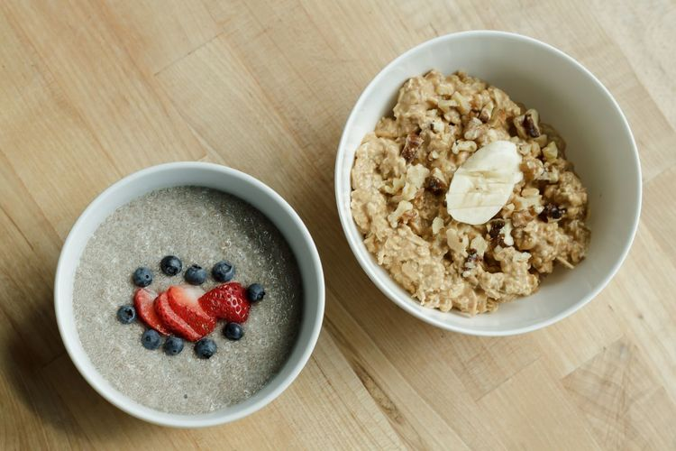 Banana Bowl Breakfast Breakfast Chia Chia Seeds Close-up Fit Food Fitness Food Food And Drink Freshness Fruit Granola Healthy Eating Healthy Recipe No People Oat Flake Oatmeal Oats Oats - Food Porridge Protein Protein Recipe Recipes