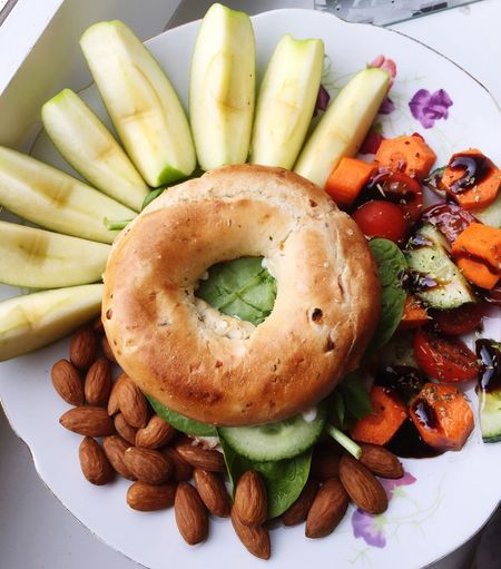 Lunch Lunch Today Bagel Healthy Food