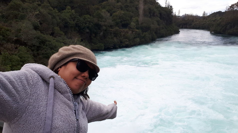EyeEm Selects Water One Person Adult Vacations One Woman Only Nature Only Women People Women Adults Only Outdoors River Young Adult Day Adventure Young Women Lifestyles Beauty In Nature Beauty One Young Woman Only New Zealand Huka Falls, NZ Huka Falls Roadtrip