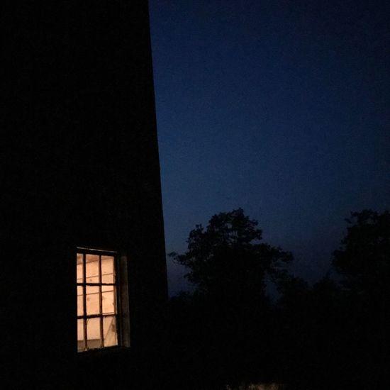 Night window EyeEm Selects Silhouette Window Night No People Tree