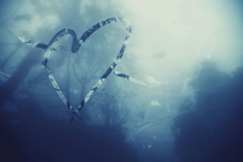 Beauty In Nature Cloud - Sky Creative Fall In Love Fog Foggy Foggy Day Foggy Morning Heart Heart Shape Leisure Activity Loneliness Love Low Angle View Mirror Miss Miss Someone Nature Symbol Water Window