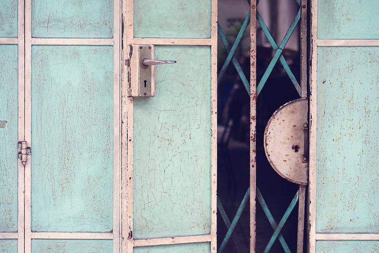 Detail Shot Of Locked Door