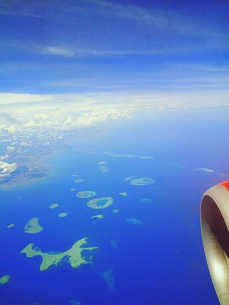 From An Airplane Window Wakatobi Indonesia_allshots Sky Archipelago Nature Cloud - Sky Love Indonesia