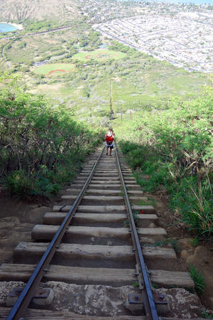 the only way is up Adventure Crater Hawaii Koko Head  Koko Head Trail Oahu Outdoors Railway Trail Spectacular View Stairs Steep Trail Training