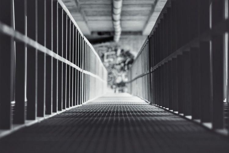 Footbridge in corridor