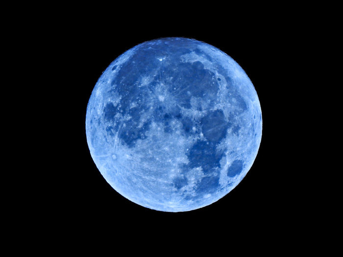 Astronomy Beauty In Nature Black Background Blue Circle Full Moon Geometric Shape Moon Moon Surface Moonlight Nature Night No People Outdoors Planetary Moon Scenics - Nature Shape Single Object Sky Space Space Exploration Sphere
