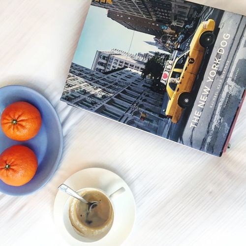 Hotel Blueplate Newyorkcity Newyork Tangerine Whitesheets  Breakfast Bed Relaxing Travel Destinations Travel Honeymoon Staycation Hotel Suite Hotel Hotel Room Table Indoors  Food And Drink High Angle View Drink Freshness Still Life Refreshment Directly Above Fruit Cup Mug Coffee Cup Bowl Wellbeing EyeEmNewHere