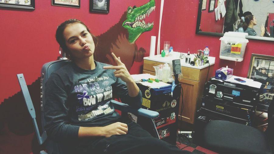 HallOfTattoos First Tattoo Ink Session  Tattoo Therapy