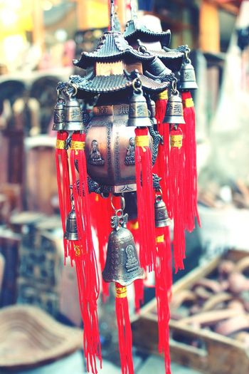 Red Hanging No People Market Craft Art And Craft Outdoors KeyChainPhotography