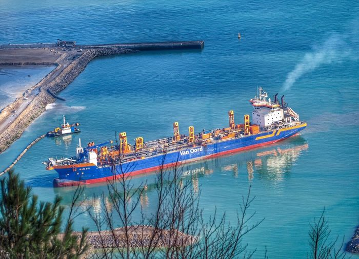 Water Nautical Vessel Transportation High Angle View Mode Of Transportation Nature Sea Ship Day Shipping  No People Outdoors